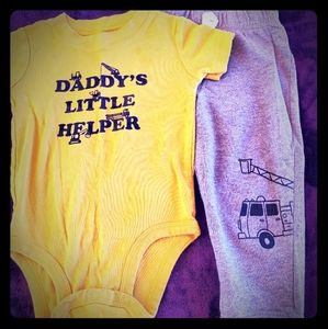 Baby boys Onesie and sweat pants set